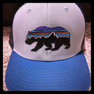 Kids Patagonia SnapBack, Blue/gray, Bear